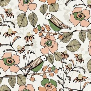 Bloom Song_Cream/Peach