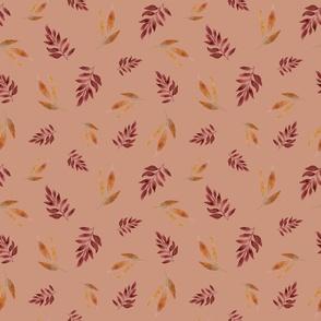 Autumn Leaves Beige Medium