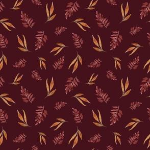 Autumn Leaves Mulberry Medium