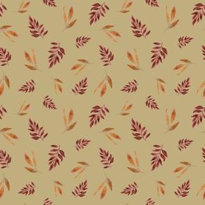Autumn Leaves Olive Medium