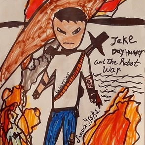 "Samuel Yíská's ""Jake Dayhunter Warrior"""
