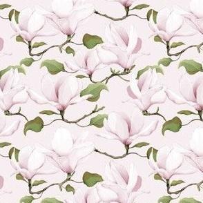 Watercolour Magnolias Pink