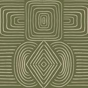 Abstract lines_Geo_khaki