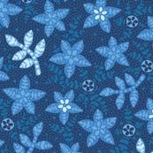Flower toss - Blue