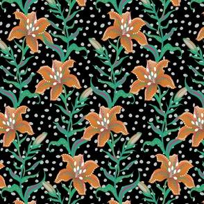 lilies black