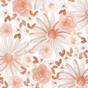 Linear Watercolor Daisy