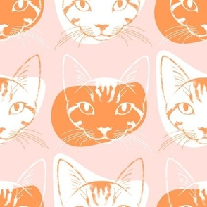 Ginger Cat Club - dusty pink and orange