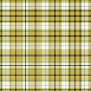 Nature Trail Plaid - Citron Yellow Small Scale