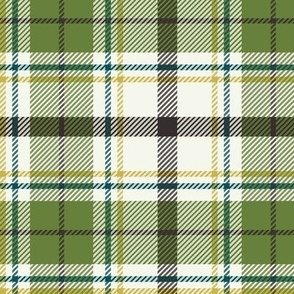 Nature Trail Plaid - Ivory Green Large Scale