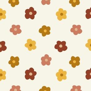 hippie fall florals - hippie flowers fabric