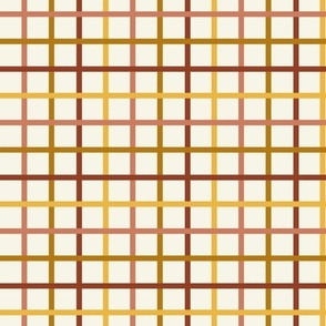 autumn grid fabric - plaid check, autumn check, fall plaid fabric