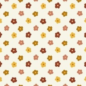 SMALL hippie fall florals - hippie flowers fabric