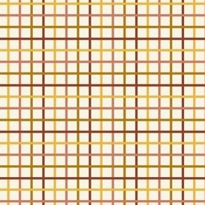 SMALL autumn grid fabric - plaid check, autumn check, fall plaid fabric