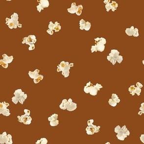 Tossed Popcorn on Pecan Brown