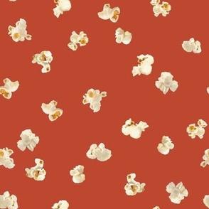 Tossed Popcorn on  Red