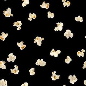 Tossed Popcorn on Black