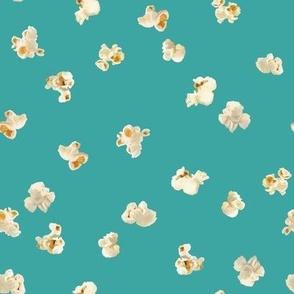 Tossed Popcorn on Turquoise