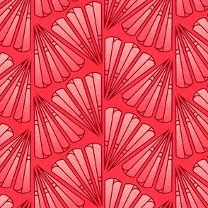Red Geometric Plumes