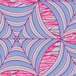 african gothic - pink and light blue