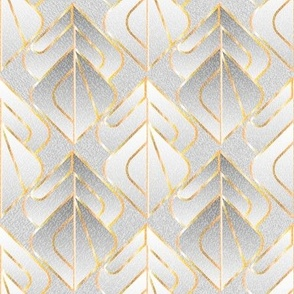 Geometric Gold Inlay on Grey