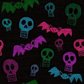 Halloween Bats & Skulls