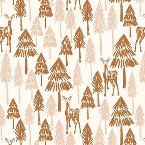 Doe A Deer - Pink and Bronze Medium - Hufton