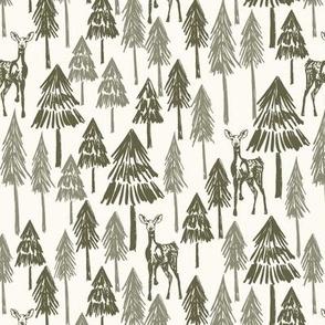 Doe A Deer - Forest Medium - Hufton