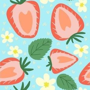 Strawberries in Bloom