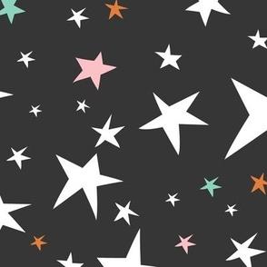 Starlight - Twinkling Stars - Black Large Scale