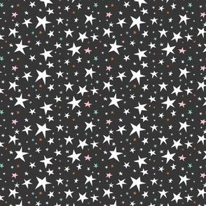 Starlight - Twinkling Stars - Black Small Scale