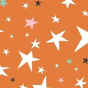 Starlight - Twinkling Stars - Orange Large Scale