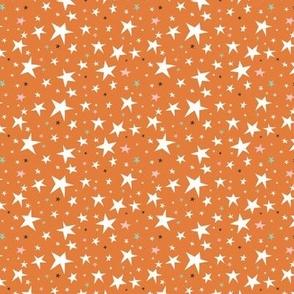 Starlight - Twinkling Stars - Orange Small Scale