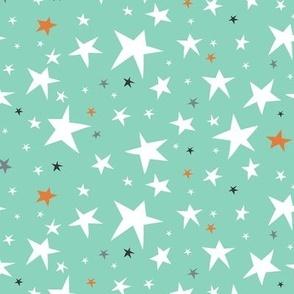 Starlight - Twinkling Stars - Mint Green Regular Scale