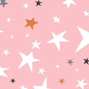 Starlight - Twinkling Stars - Pink Large Scale