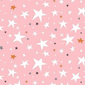 Starlight - Twinkling Stars - Pink Regular Scale