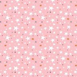 Starlight - Twinkling Stars - Pink Small Scale