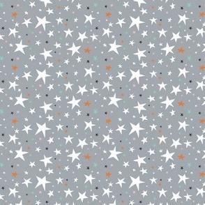 Starlight - Twinkling Stars - Grey Small Scale