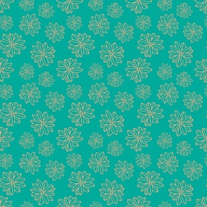 Bloom Big Boho Floral in Teal and Blush - TINY Scale - UnBlink Studio by Jackie Tahara