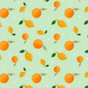 Lemons and Oranges on Mint