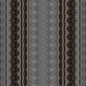 Ethnic stripes - copper silver