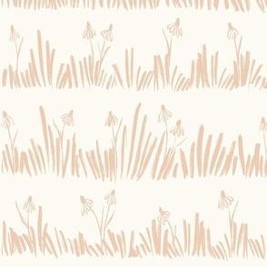 Meadow - wildflowers Baby Pink Large_hufton