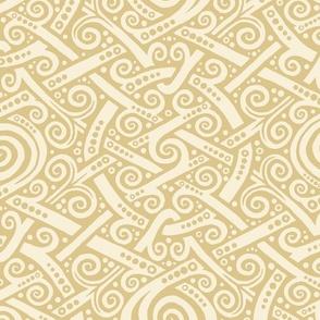 Swirlygig in cream and gold