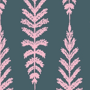 Ferns Jumbo - Navy and Pink