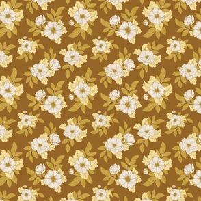 Dog Roses S - Mustard