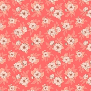 Dog Roses S - Coral