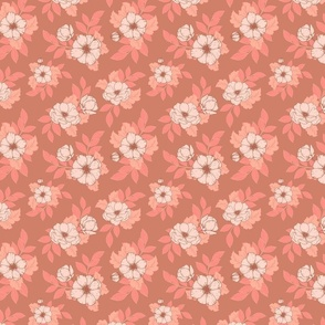 Dog Roses S - Pink and Tan