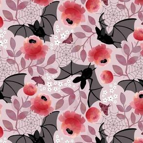 Pastel bat floral