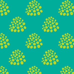 Boho Dotty in Lime Green Teal - LARGE Scale - UnBlink Studio by Jackie Tahara