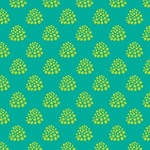 Boho Dotty in Lime Green Teal - SMALL Scale - UnBlink Studio by Jackie Tahara