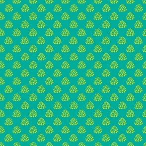 Boho Dotty in Lime Green Teal - TINY Scale - UnBlink Studio by Jackie Tahara